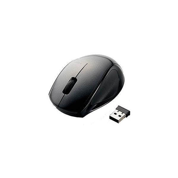 エレコム レーザーマウス 無線/3ボタン M-LS14DLBK ブラックの画像