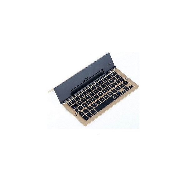 【スマホ/タブレット対応】ワイヤレスキーボード[Bluetooth・Android/iOS/Win] Stick (英語配列58キー・ゴールド) 3E-BKY2-G2の画像