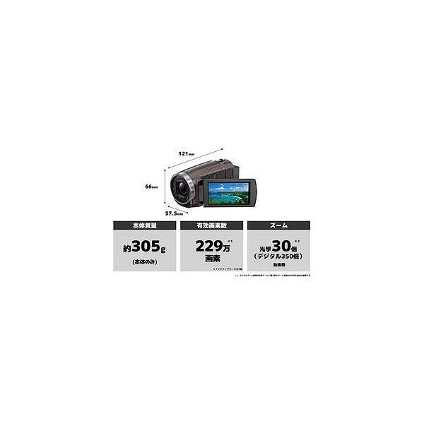 ソニー 64GBメモリー内蔵 フルハイビジョンビデオカメラ HDR−CX680(TI)(ブロンズブラウン)