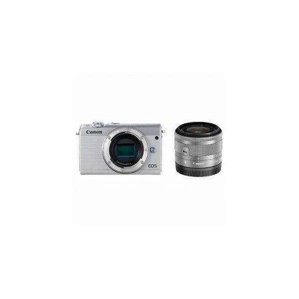 Canon EOS M100【EF−M15−45 IS STM レンズキット】 EOS M100(ホワイト/ミラーレス一眼カメラ)