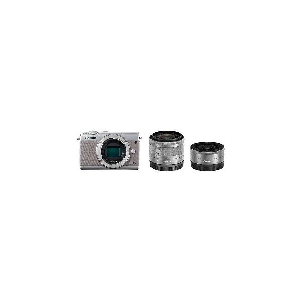 Canon EOS M100【ダブルレンズキット】 (グレー/ミラーレス一眼カメラ)