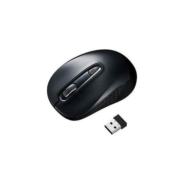 サンワサプライ ワイヤレスブルーLEDマウス MA-WBL41BK ブラックの画像
