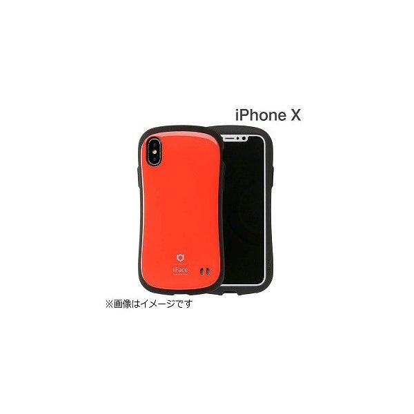 Hamee iFace First Classケース レッド 〔iPhone XS/X用〕の画像