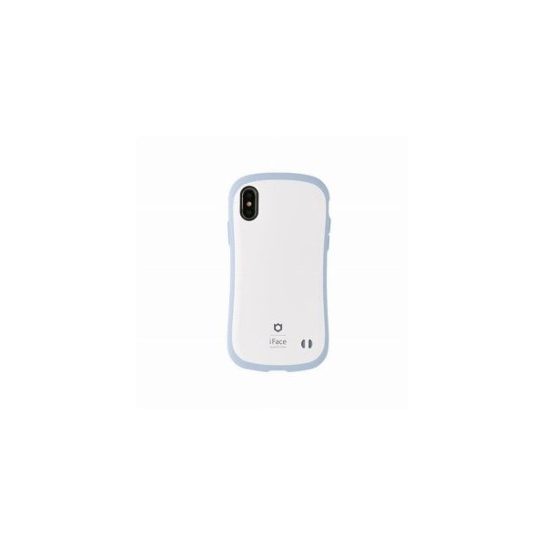 Hamee iFace First Class Pastelケース ホワイト/ブルー 〔iPhone XS/X用〕の画像