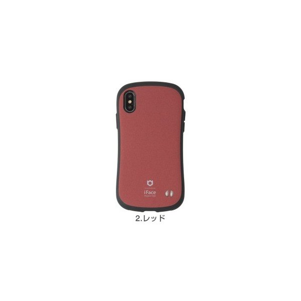 Hamee iFace First Class Senseケース レッド 〔iPhone XS/X用〕の画像