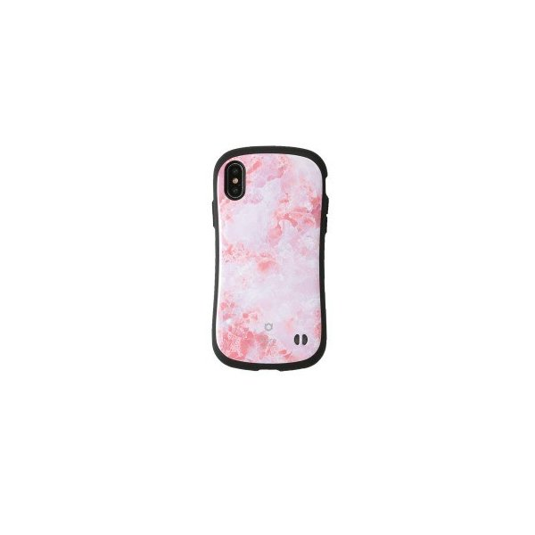 Hamee iFace First Class Marbleケース ピンク 〔iPhone XS/X用〕の画像