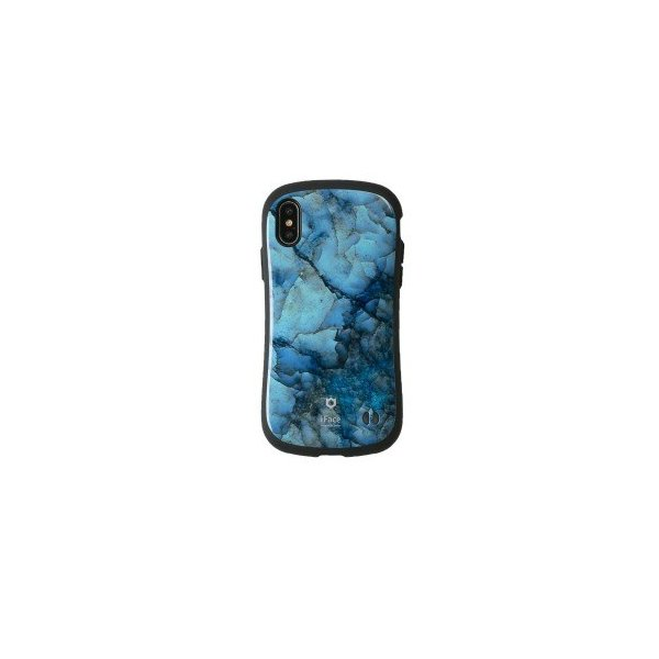 Hamee iFace First Class Marbleケース ブルー 〔iPhone XS/X用〕の画像