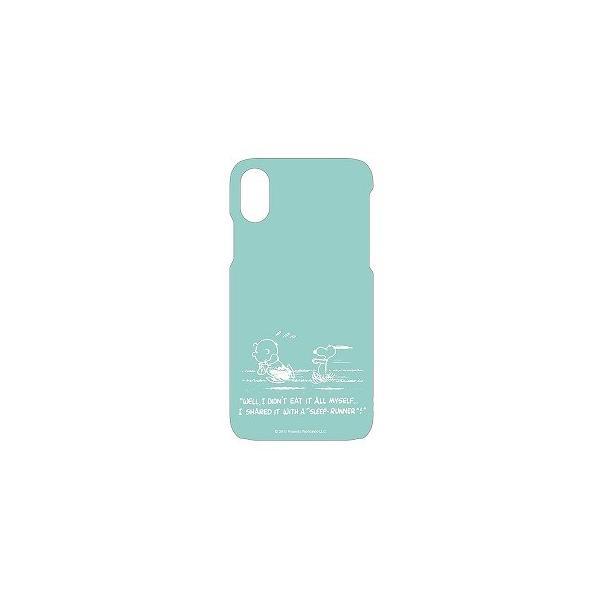 SNG-199B iPhone X用 ピーナッツ FULL DISPLAY MODEL対応ソフトケース ダッシュ SNG199B