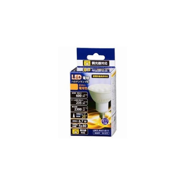 オーム電機 LED電球 (ハロゲン電球形・全光束600lm/電球色相当・口金E11) LDR7LME11/D 11