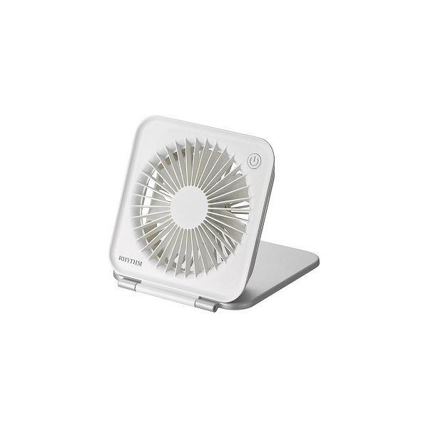 リズム時計工業 USB扇風機 (7枚羽根) 9ZF022RH19 シルバー