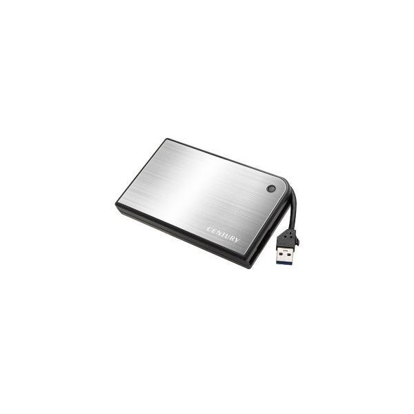 センチュリー HDDケース [SATA /1台 /2.5インチ対応] CMB25U3SV6G シルバー×ブラック