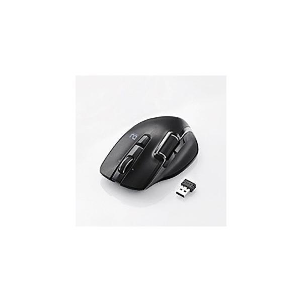 エレコム ハードウェアマクロ搭載マウス/6ボタン M-DWL01DBBK ブラックの画像