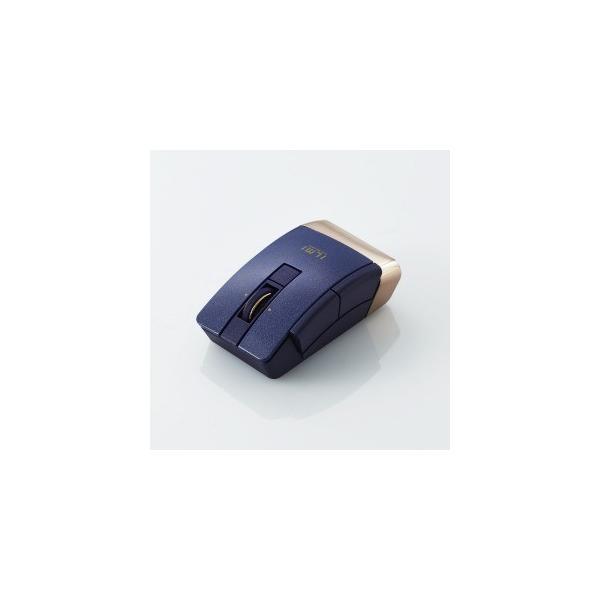 エレコム Bluetooth4.0ワイヤレスマウス6ボタン M-BT21BBBU ブルーの画像