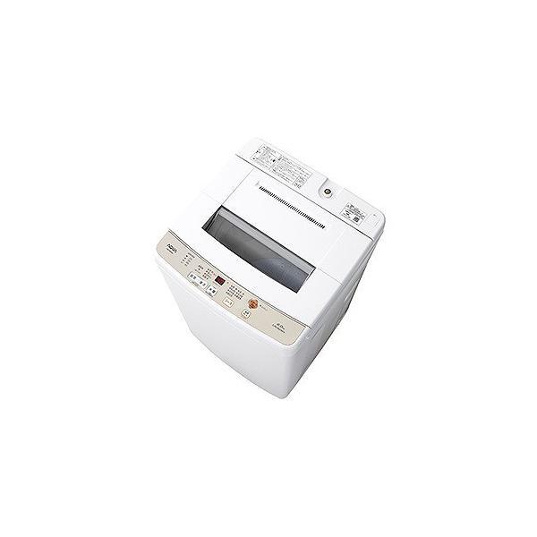 アクア 全自動洗濯機 AQW-S60G(W) ホワイト 洗濯容量:6.0kgの画像