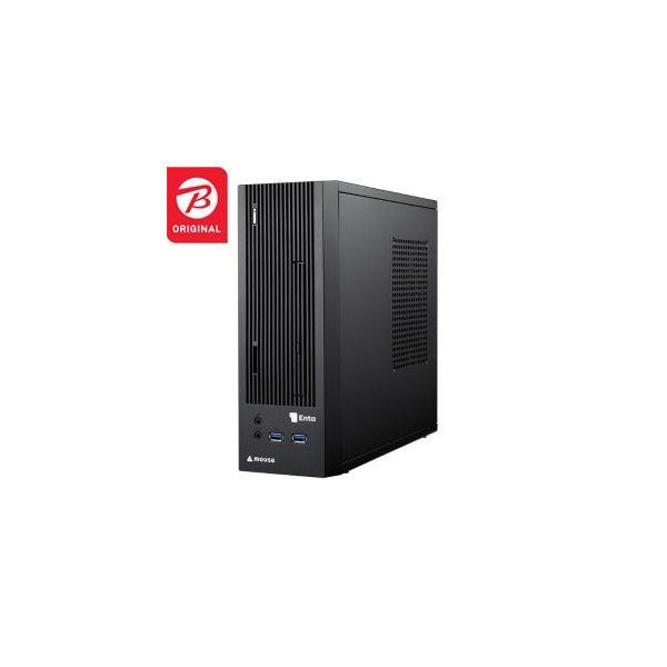 Enta デスクトップパソコン [モニター無 /AMD APU /HDD:1TB /SSD:120GB /メモリ:4GB /2018年12月モデル] ENTA-SA6M4S1H1-183 ブラック [モニター無し]の画像