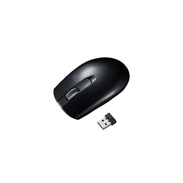 サンワサプライ ワイヤレス IR LEDマウス MA-WIR132BK ブラックの画像