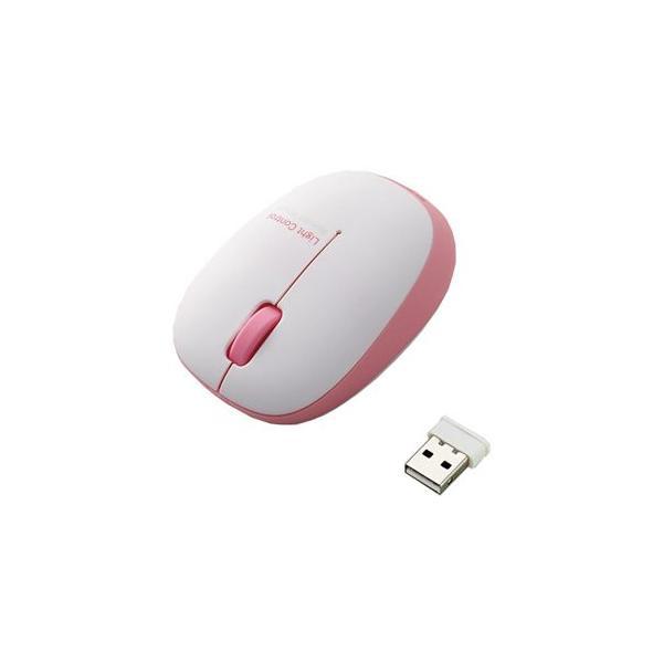 エレコム BlueLEDマウス/無線/3ボタン/軽量 M-BL20DBPN ピンクの画像