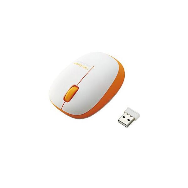 エレコム BlueLEDマウス/無線/3ボタン/軽量 M-BL20DBDR オレンジの画像