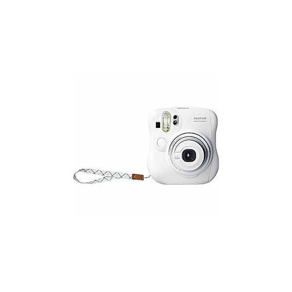フジフイルム インスタントカメラ instax mini 25 「チェキ」 ホワイト 純正ハンドストラップ付きの画像