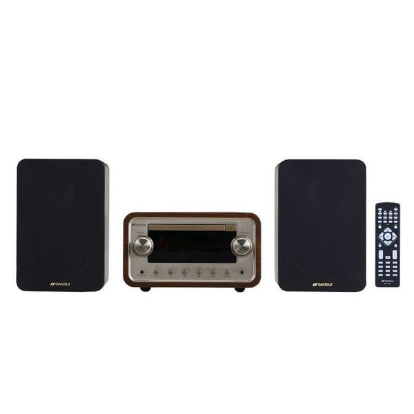 ドウシシャ sansui 真空管ハイブリッド CDステレオシステム SMC-300BT [ワイドFM対応 /Bluetooth対応]