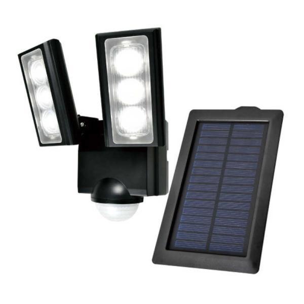 ELPA ソーラー発電式 LEDセンサーライト 2灯 ESL-312SL [白色 /ソーラー式]