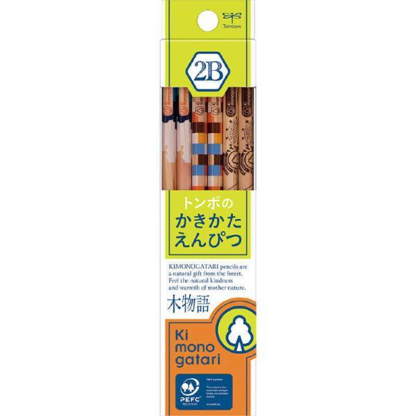 トンボ鉛筆 かきかた鉛筆F木物語02黄緑2B KB-KF02-2B