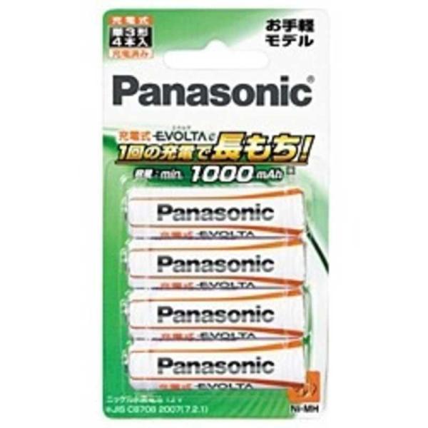 パナソニック Panasonic 充電式エボルタ「単3形」4本パック(お手軽モデル) BK‐3LLB/4B