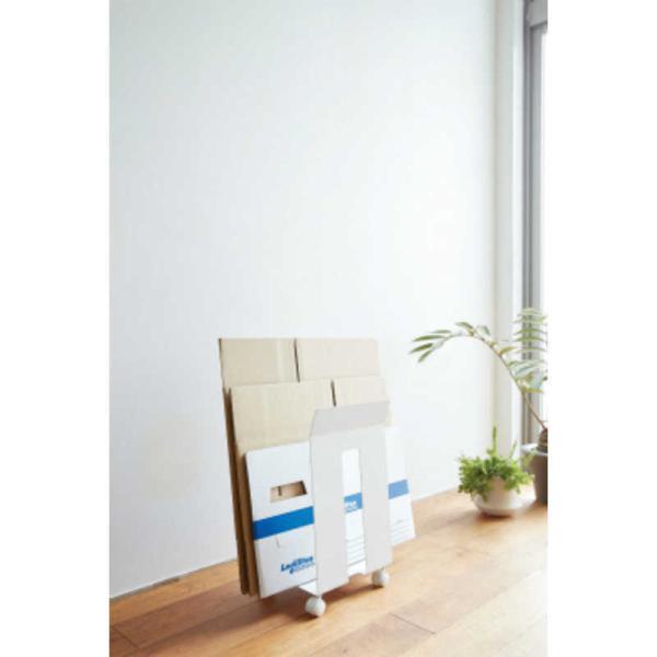 山崎実業 ダンボール&紙袋ストッカーフレーム ホワイト 03301