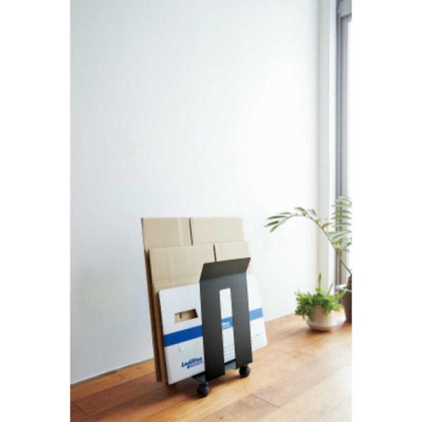 山崎実業 ダンボール&紙袋ストッカーフレーム ブラック 03302