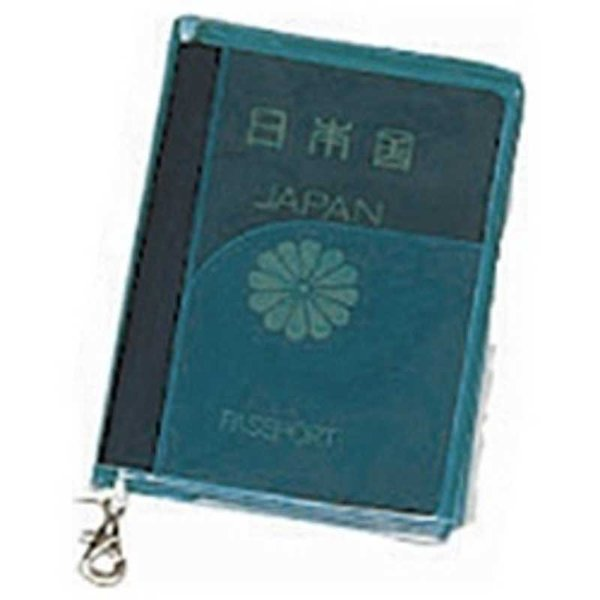 JTB SWT パスポートカバー クリア 緑 0302615(ミド
