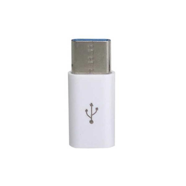 TypeC 変換アダプタ [ USB microBメス − USB Type−Cオス ] データ通信対応 USB2.0 CAD-P1W CAD-P1W ホワイト