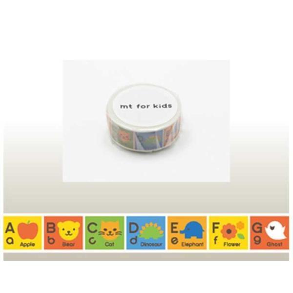 カモ井加工紙 「マスキングテープ」mt for kids (キッズアルファベットA−M) MT01KID013