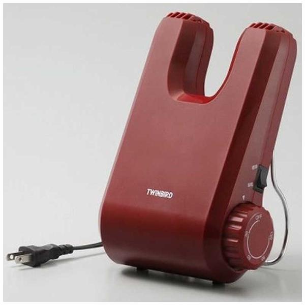 ツインバード TWINBIRD くつ乾燥機 SD‐4546R (レッド)
