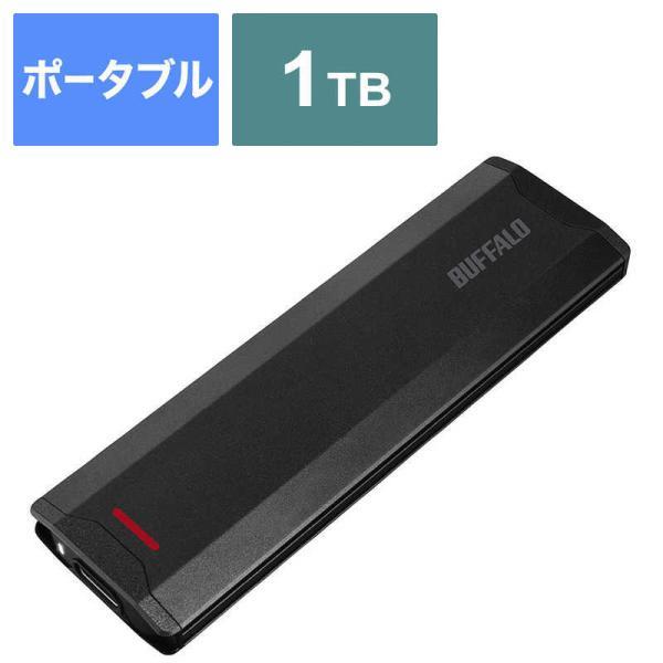 BUFFALO外付けSSDブラック[ポータブル型/1TB]SSD-PH1.0U3-BA