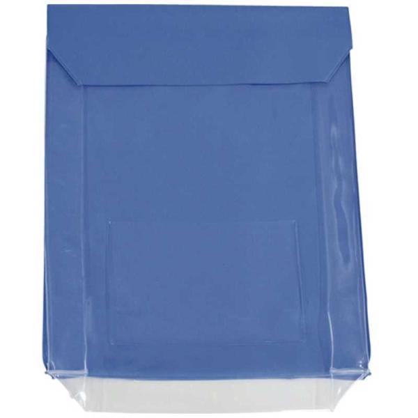 トラスコ中山 TRUSCO TRUSC0 通い袋 マチ付 ブルー  TKM3037-BL