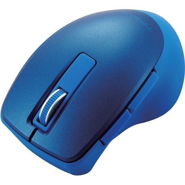 エレコム Bluetooth(R)静音5ボタンBlueLEDマウス M-TP20BBSBU ブルーの画像