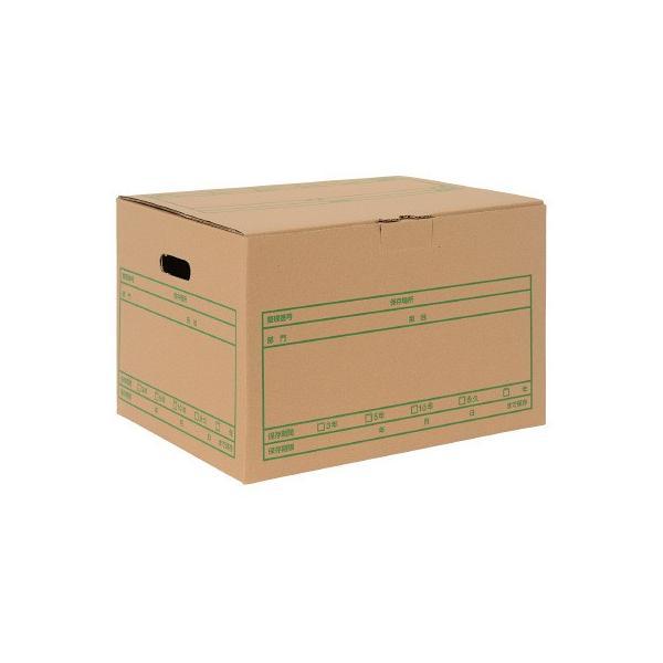 プラス 文書保存箱 ワンタッチストッカー D型フタ式 A4用 書類収納 ダンボール 10枚 40077