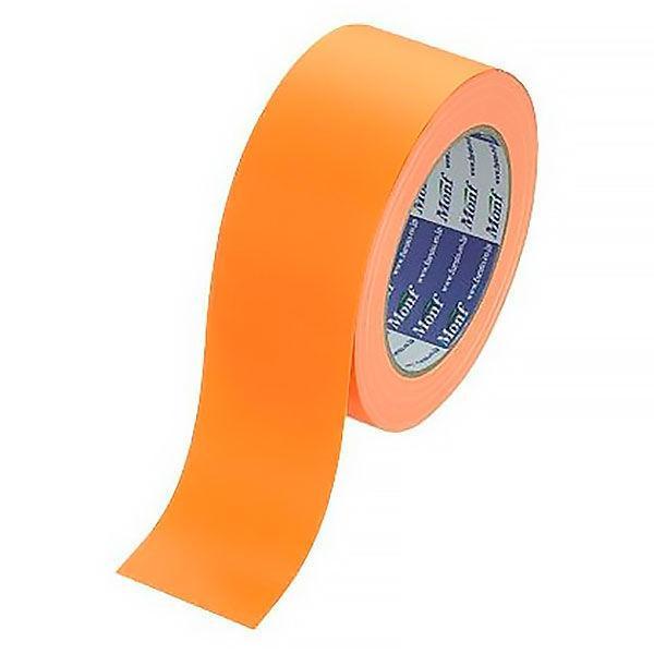【ガムテープ】カラー布粘着テープ No.890 0.22mm厚  50mm×25m オレンジ Monf 古藤工業 1セット(5巻入)
