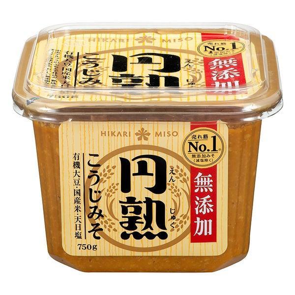 ひかり味噌 無添加 円熟こうじみそ 750g 生味噌・液状味噌