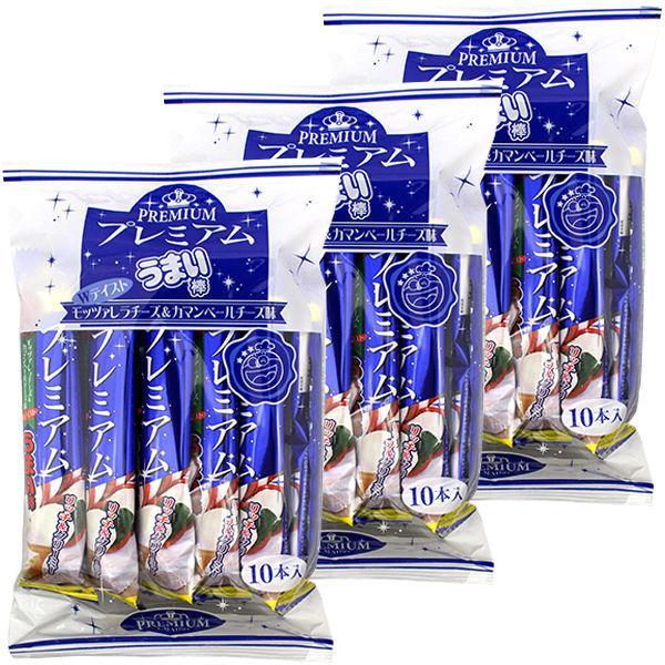 やおきん プレミアムうまい棒 モッツアレラ&カマンベール味  1セット(30本:10本入×3袋)