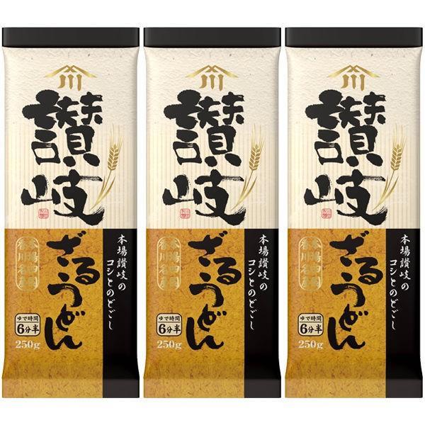 川田製麺 讃岐ざるうどん (250g) ×3個