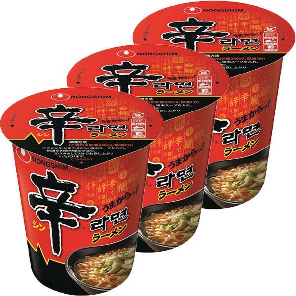 農心辛ラーメンカップ1セット(3食入)