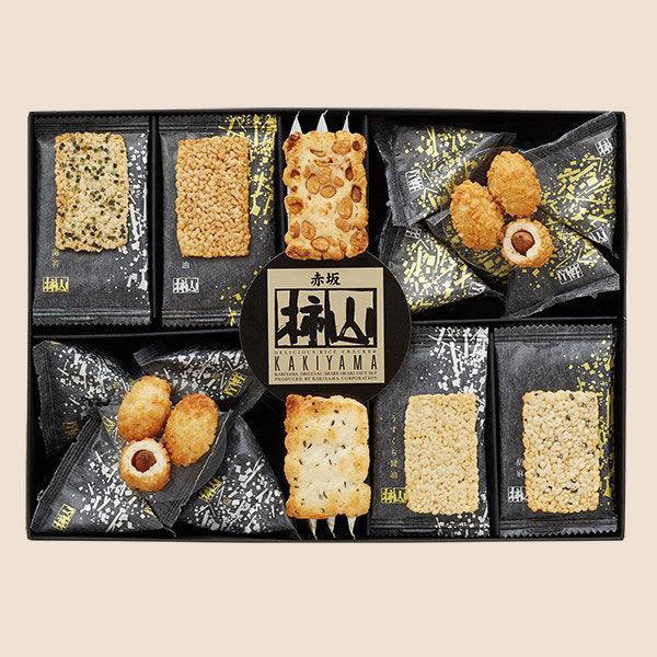 三越伊勢丹 赤坂柿山 柿山セレクト 1箱(46枚入) 三越の紙袋付き 手土産ギフト 和菓子 お歳暮