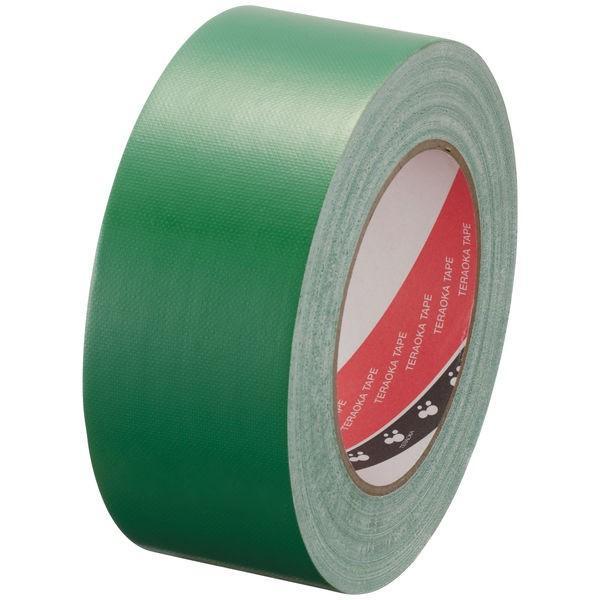 【ガムテープ】布粘着テープ No.145 0.31mm厚 50mm×25m 緑 オリーブテープ 寺岡製作所 1巻
