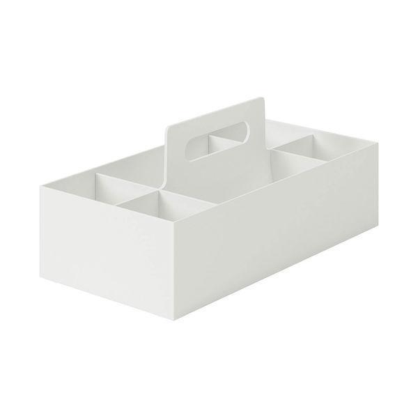 無印良品 ポリプロピレン収納キャリーボックス・ワイド ホワイトグレー 1個 37035508 良品計画