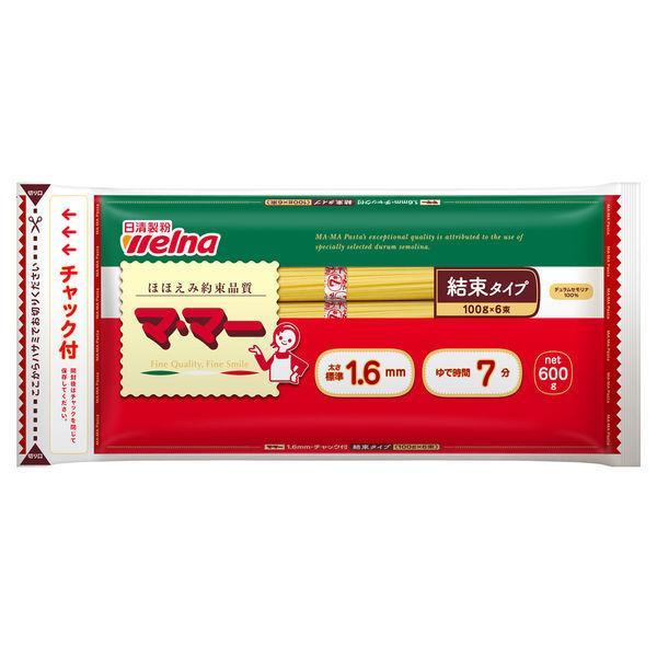 日清フーズ マ・マー チャック付結束スパゲティ 1.6mm (600g) ×1個