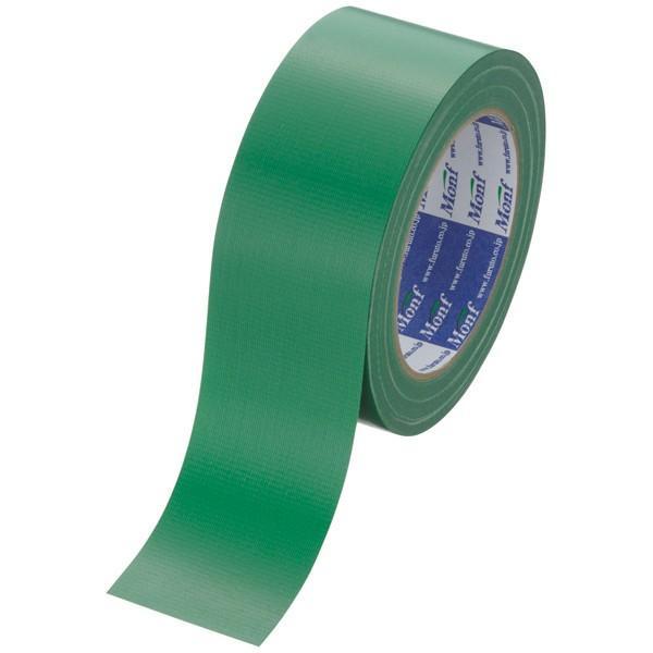 古藤工業 カラー布テープ Monf 布粘着テープ No.890カラー 0.22mm厚 緑 幅50mm×長さ25m巻 1巻