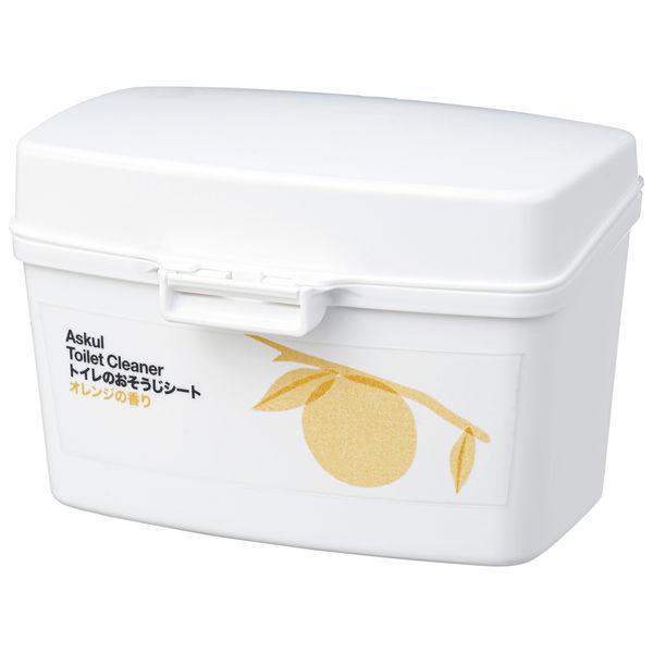 アスクル トイレのおそうじシート オレンジの香り 本体 1個(12枚入)