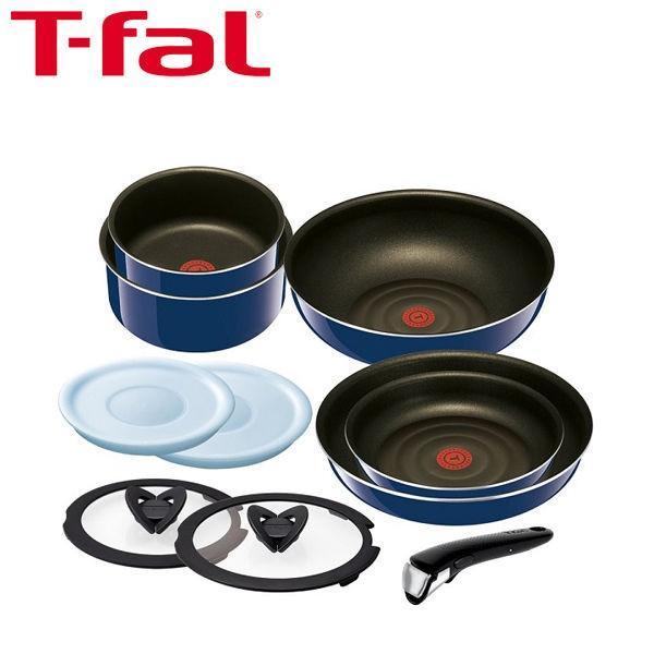 T-fal(ティファール)インジニオ・ネオ グランブルー・プレミア セット10 フライパン 鍋 取ってのとれる 10点セット ガス火専用
