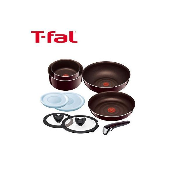 T-fal(ティファール)インジニオ・ネオ マホガニー・プレミア セット9 フライパン 鍋 取ってのとれる 9点セット ガス火専用